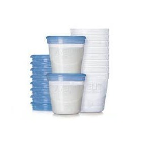 Recipientes almacenamiento leche materna