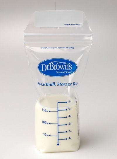 Bolsa para almacenamiento de leche materna